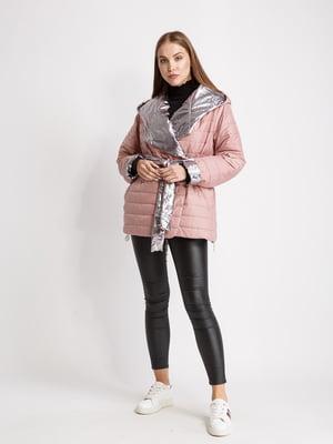 Куртка рожево-сріблястого кольору | 5516120