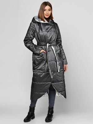 Пальто сіро-сріблястого кольору | 5516121