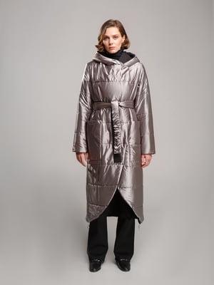 Пальто черно-серебристого цвета | 5516122
