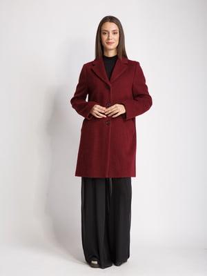 Пальто бордовое | 5516147