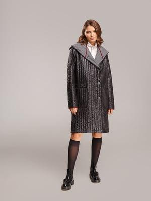Пальто черно-серое | 5516118