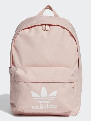 Рюкзак кольору пудри з логотипом | 5516302
