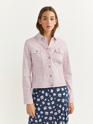 Куртка джинсова лавандового кольору | 5515632