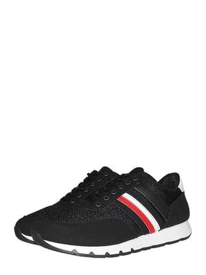 Кросівки чорні зі смужкою | 5513343