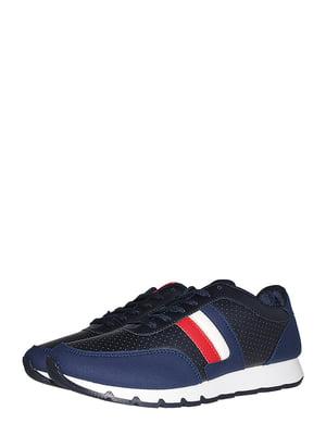 Кросівки сині зі смужкою | 5513344