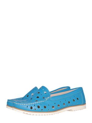 Мокасины голубого цвета | 5513900