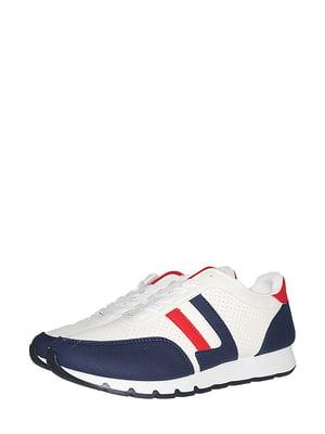 Кросівки біло-сині зі смужкою | 5514647