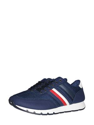Кросівки сині зі смужкою | 5514648
