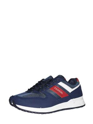 Кросівки сині зі смужкою | 5514651