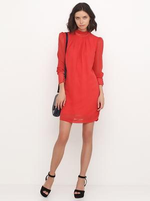 Сукня коралового кольору у горошок | 5503195