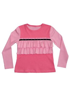 Блуза розовая с декором | 5517258