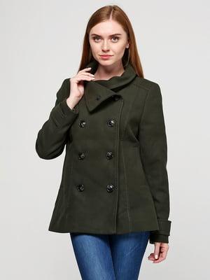 Пальто зеленое | 5507656