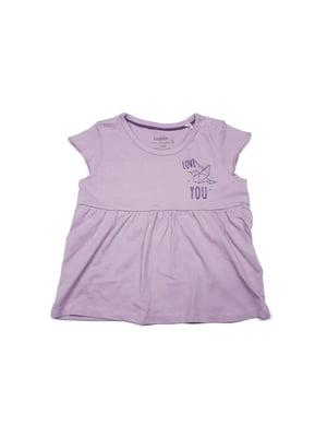 Футболка фиолетовая в принт | 5516759
