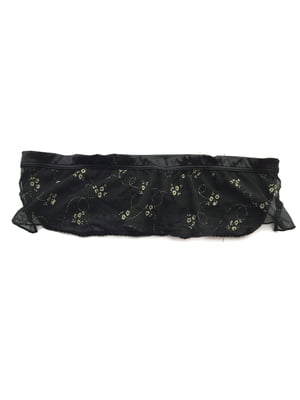 Бюстгальтер-бандо чорно-золотистого кольору з декором | 5516814