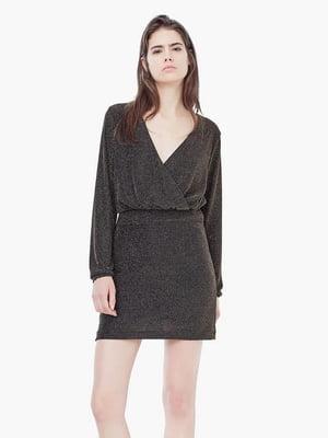 Платье черное с декором | 5517405