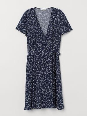 Сукня синя в квітковий принт | 5517415