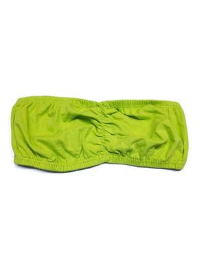 Бюстгальтер-бандо салатового кольору | 5517840