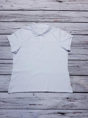 Футболка-поло біла | 5517847