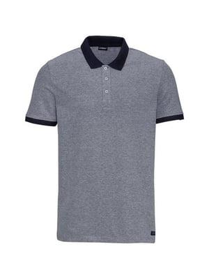 Футболка-поло цвета серый меланж | 5517850