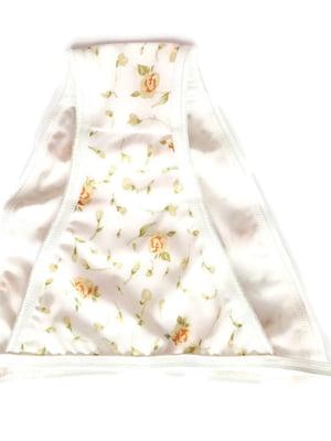 Труси купальні білі в квітковий принт | 5517946