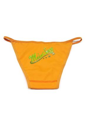 Труси купальні помаранчеві в принт | 5517955