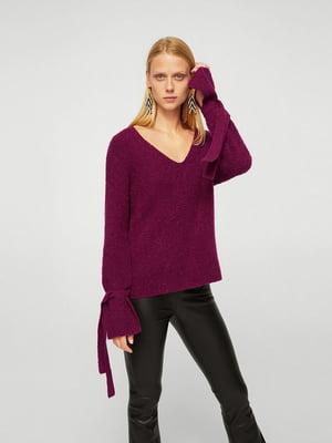 Пуловер сливового цвета   5518313
