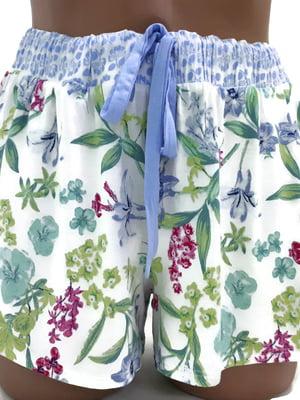 Шорти піжамні в квітковий принт | 5518553