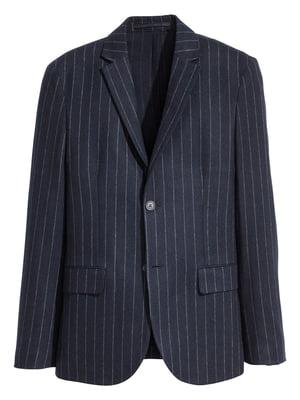 Пиджак синий в полоску | 5518993