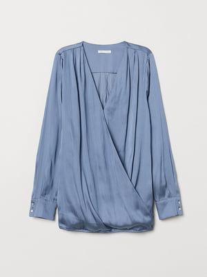 Блуза для кормящих мам синяя | 5519107