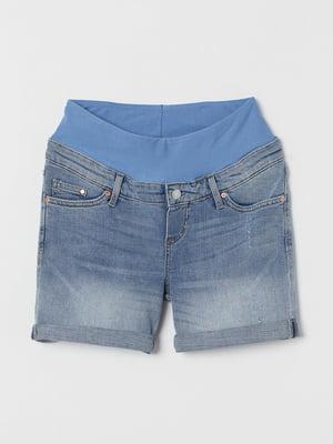 Шорти джинсові для вагітних блакитні | 5519259