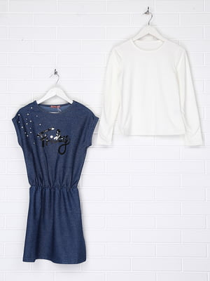 Комплект утепленный: лонгслив и платье   4722900