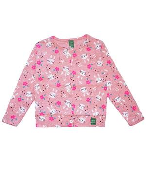 Кофта рожева у принт | 5519710