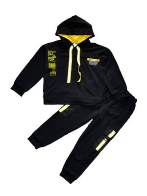 Костюм (худі і штани) чорний | 5519734