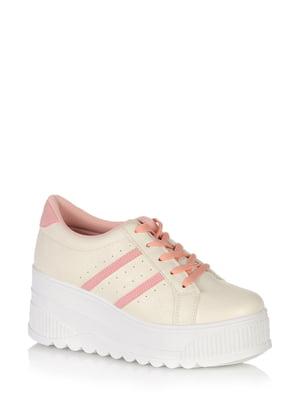 Кросівки рожево-білі | 5519760