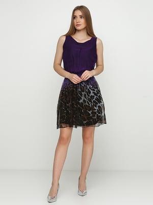 Сукня фіолетова з анімалістичним принтом | 5503335