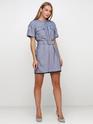 Сукня синя в смужку | 5503484