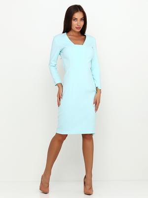 Платье бирюзовое | 5503645