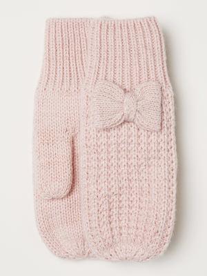 Варежки светло-розовые | 5505052