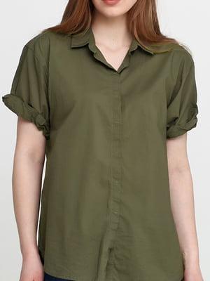 Рубашка цвета хаки | 5506009