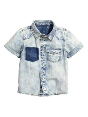 Рубашка джинсовая голубая | 5506070
