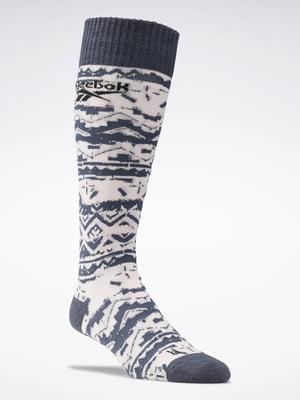 Шкарпетки сіро-білі | 5519855