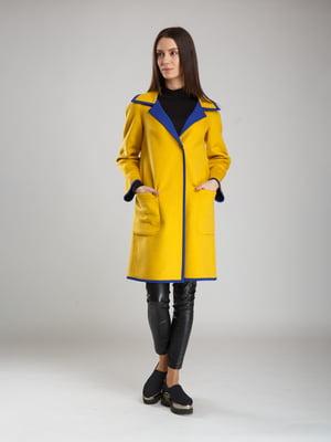 Пальто синьо-жовте   5520253