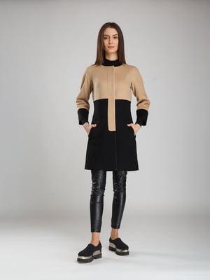 Пальто чорно-бежеве | 5520254