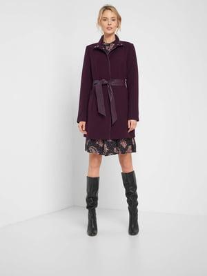 Пальто темно-фіолетове | 5519991