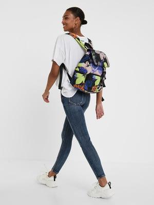Рюкзак різнобарвний з принтом   5520001