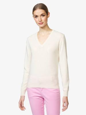 Пуловер молочного кольору | 5520734