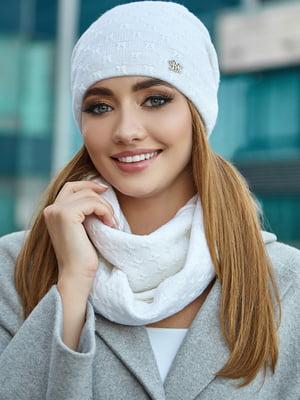 Комплект (шапка і снуд) білий | 5519478