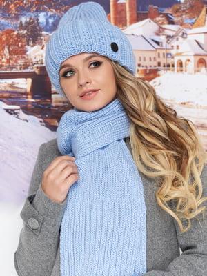 Комплект (шапка і шарф) блакитний | 5519535