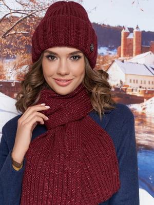 Комплект (шапка и шарф) бордовый | 5519536