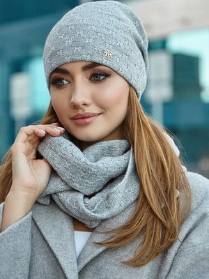Комплект (шапка і снуд) світло-сірий | 5519606